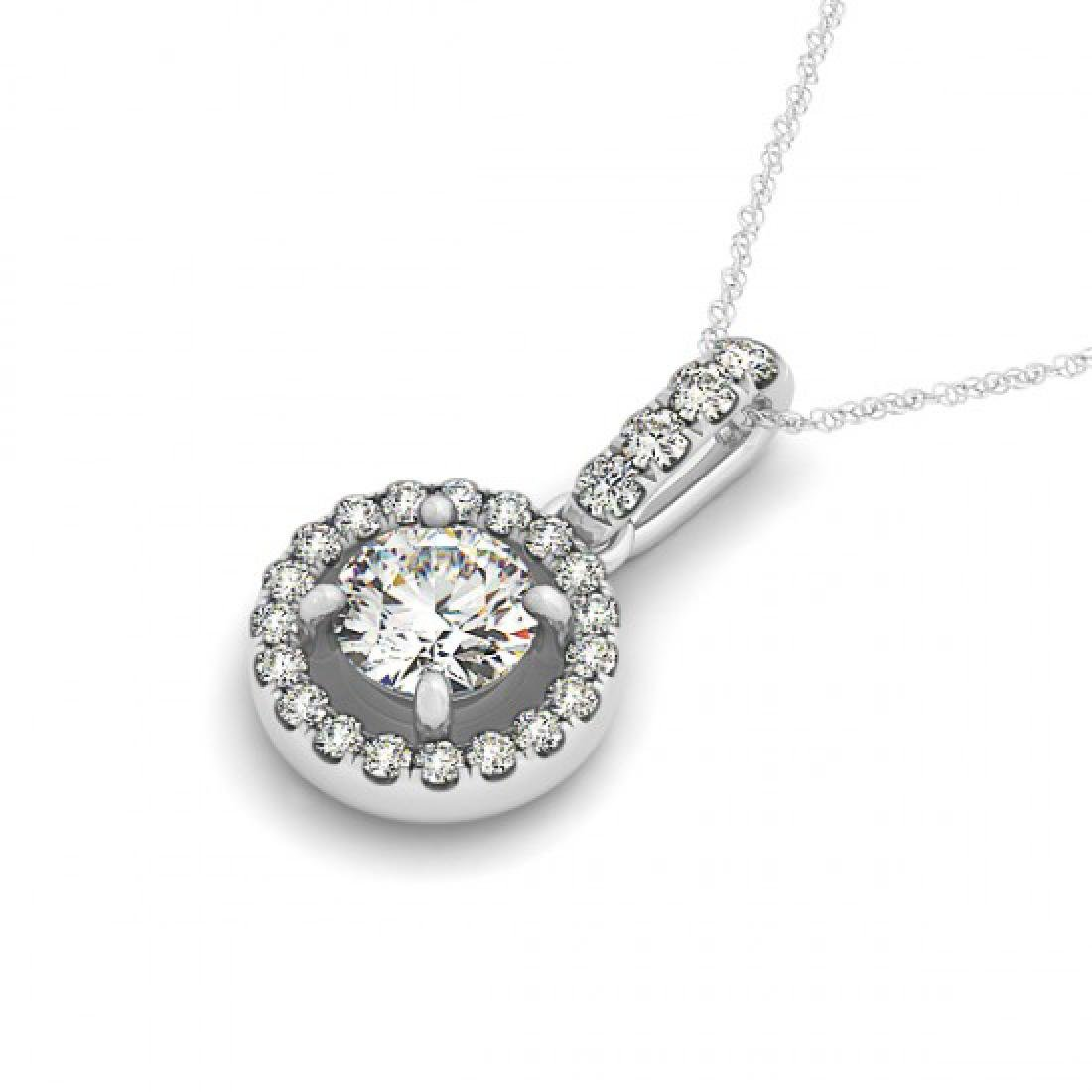2.33 CTW Certified SI Diamond Solitaire Necklace 14K