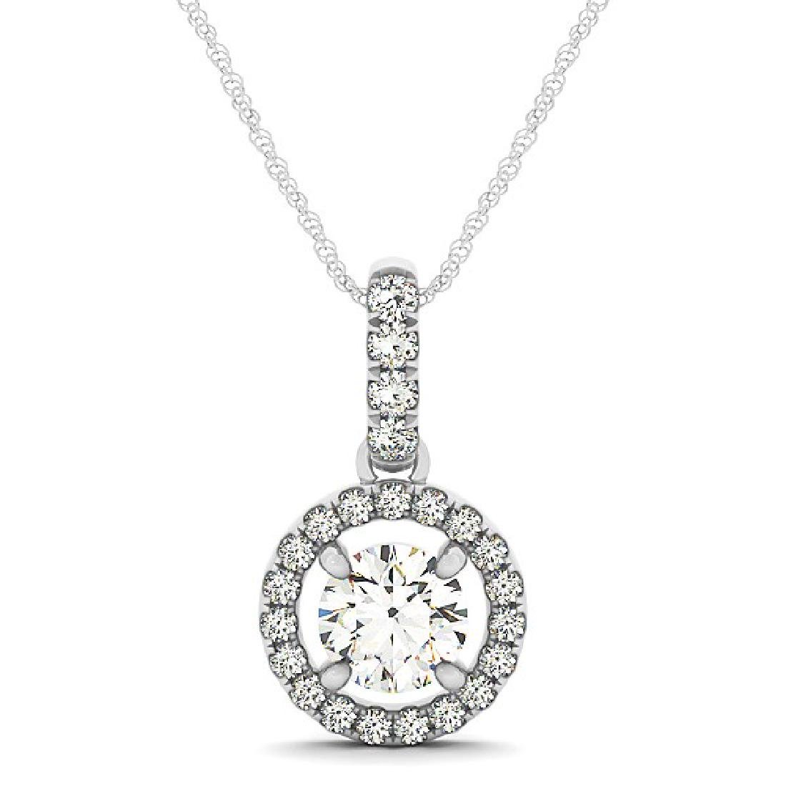2.33 CTW Certified SI Diamond Solitaire Necklace 14K - 2