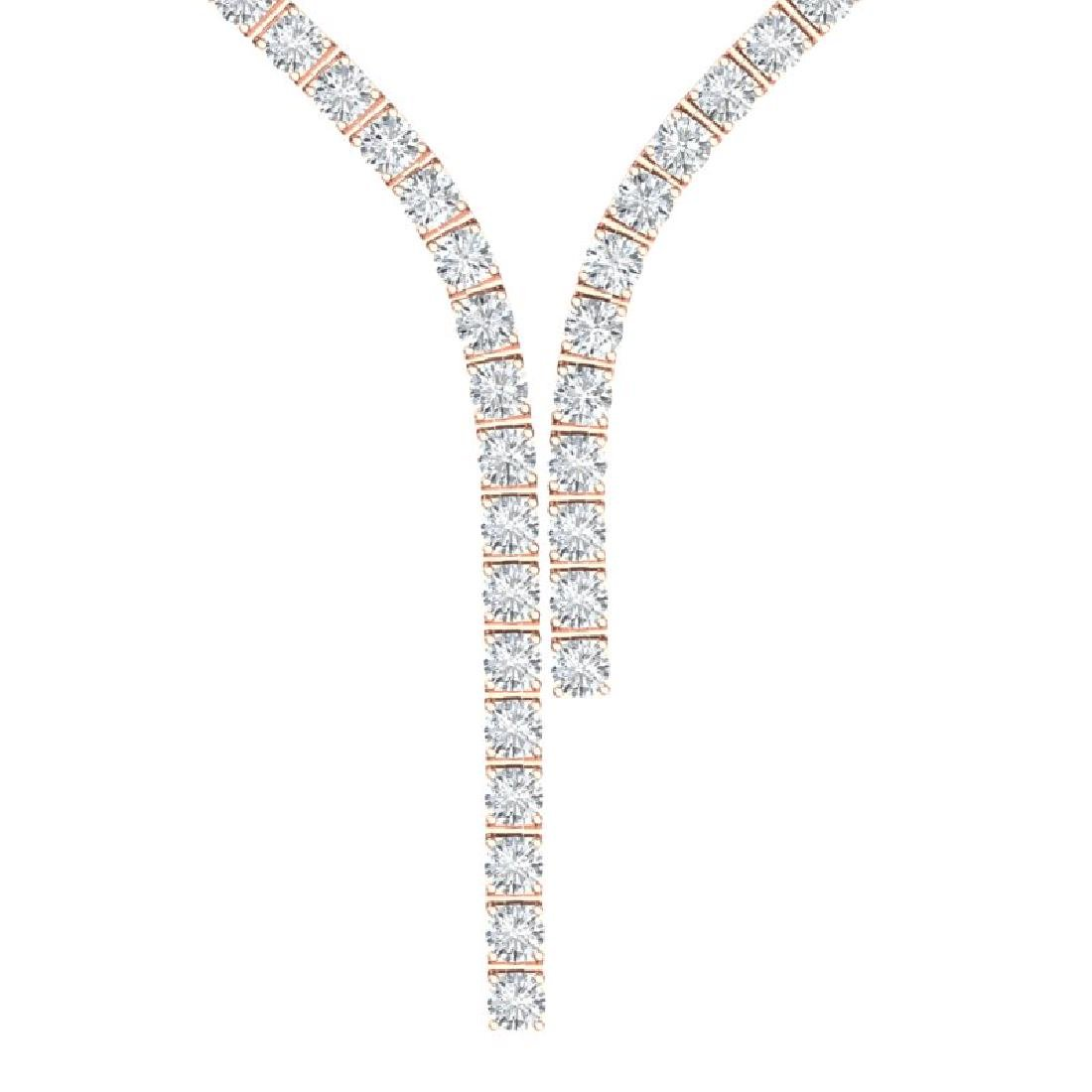 25 CTW Certified VS/SI Diamond Necklace 18K Rose Gold