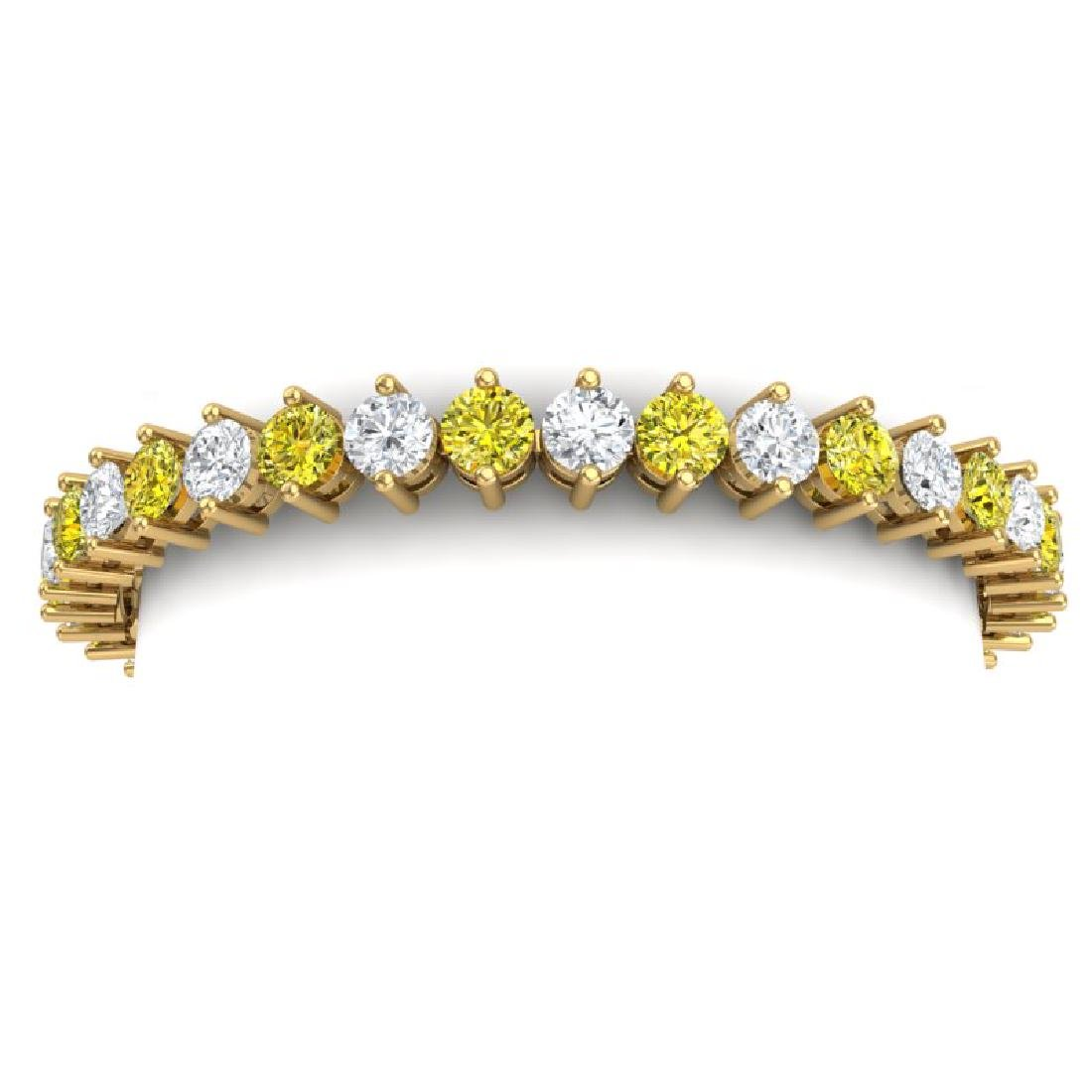 20 CTW SI/I Fancy Yellow & White Diamond Bracelet 18K - 2