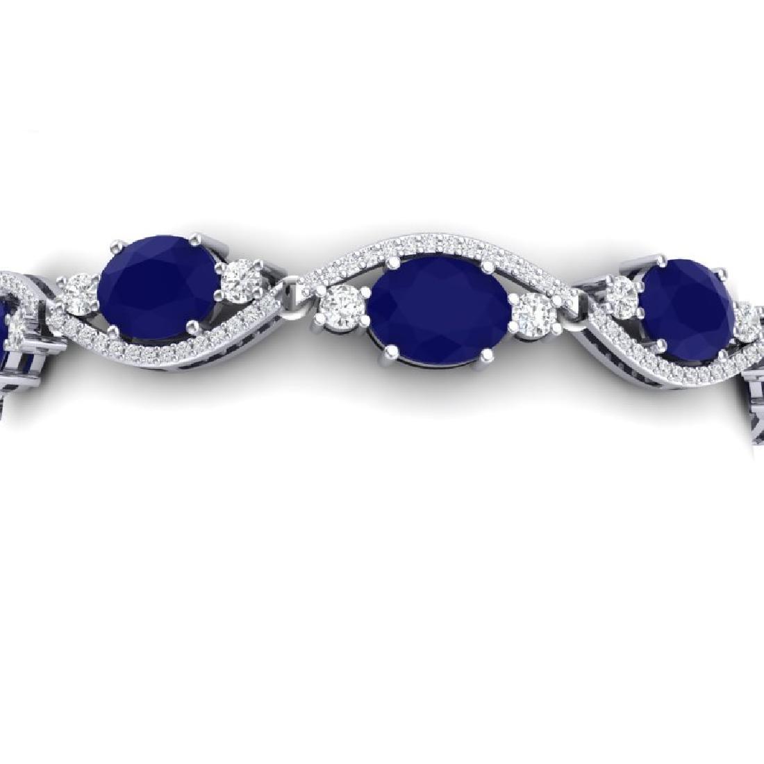 22.15 CTW Royalty Sapphire & VS Diamond Bracelet 18K