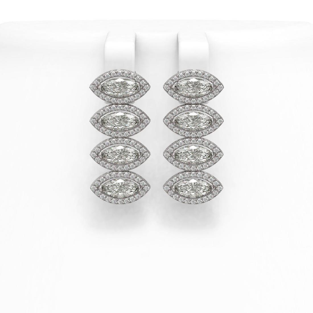 5.92 CTW Marquise Diamond Designer Earrings 18K White