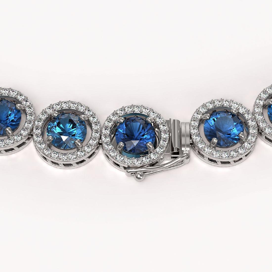 35.60 CTW Blue & White Diamond Designer Necklace 18K - 2
