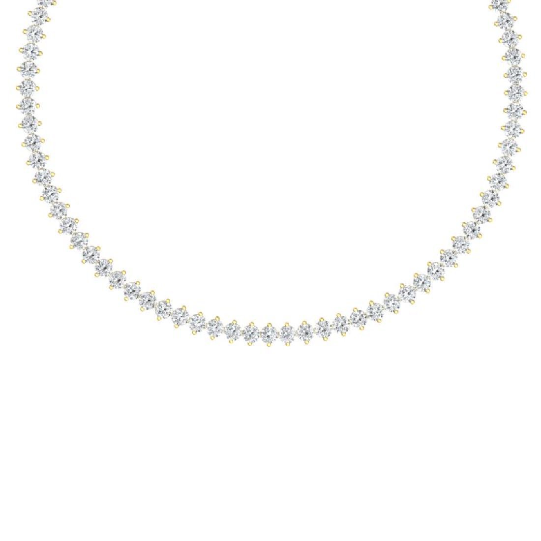 30 CTW Certified VS/SI Diamond Necklace 18K Yellow Gold