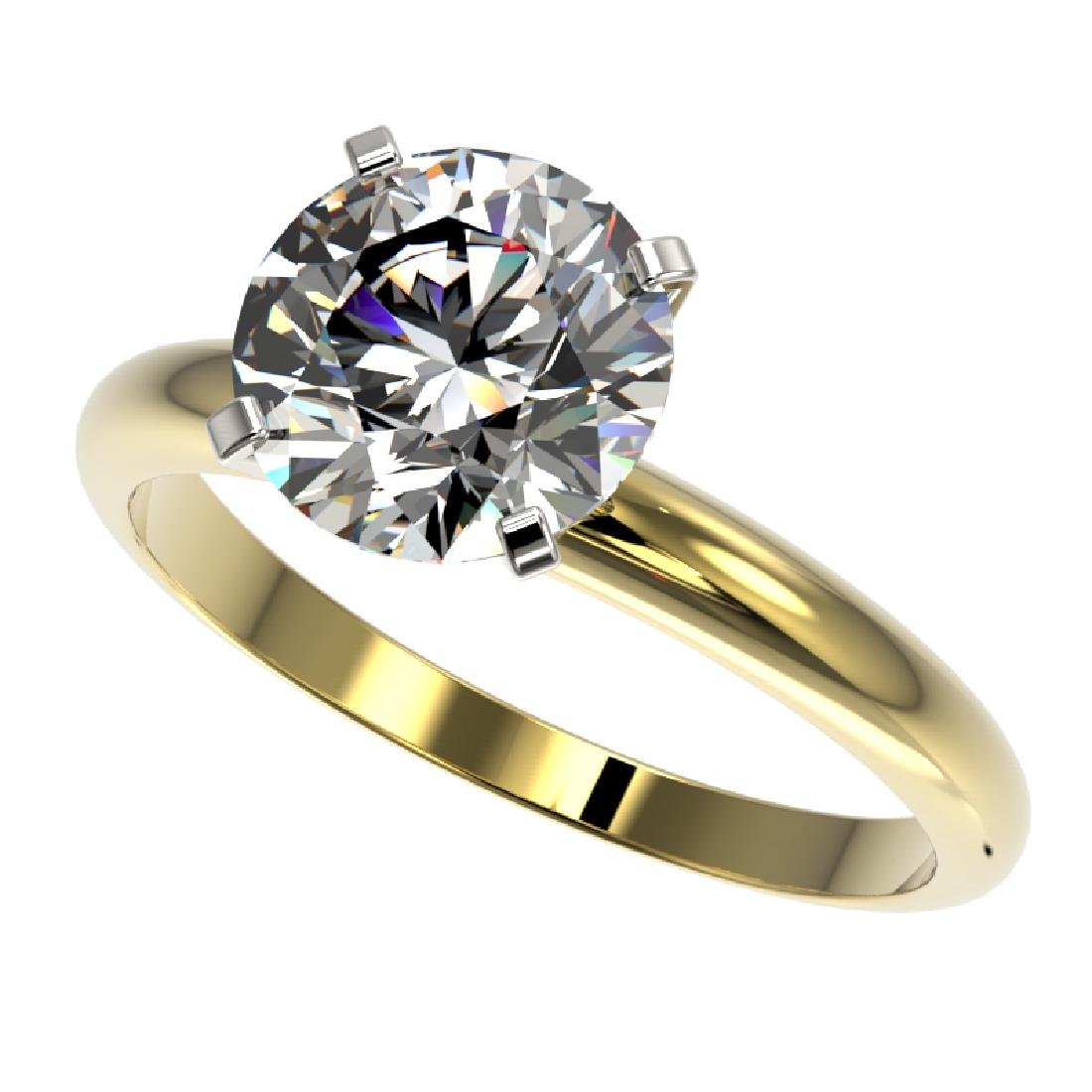 2.50 CTW Certified G-SI Diamond Engagement Ring 10K