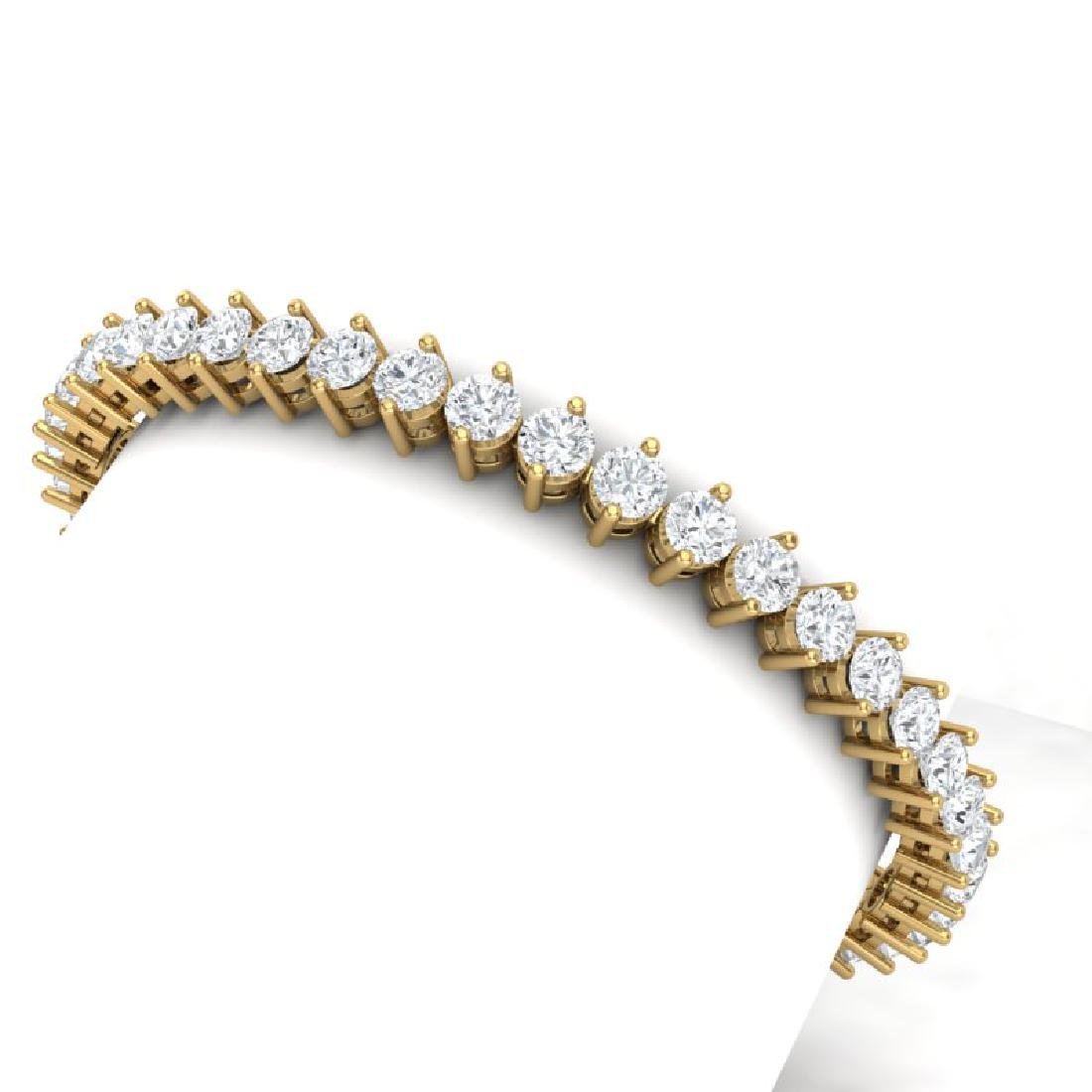 13 CTW Certified VS/SI Diamond Bracelet 18K Yellow Gold