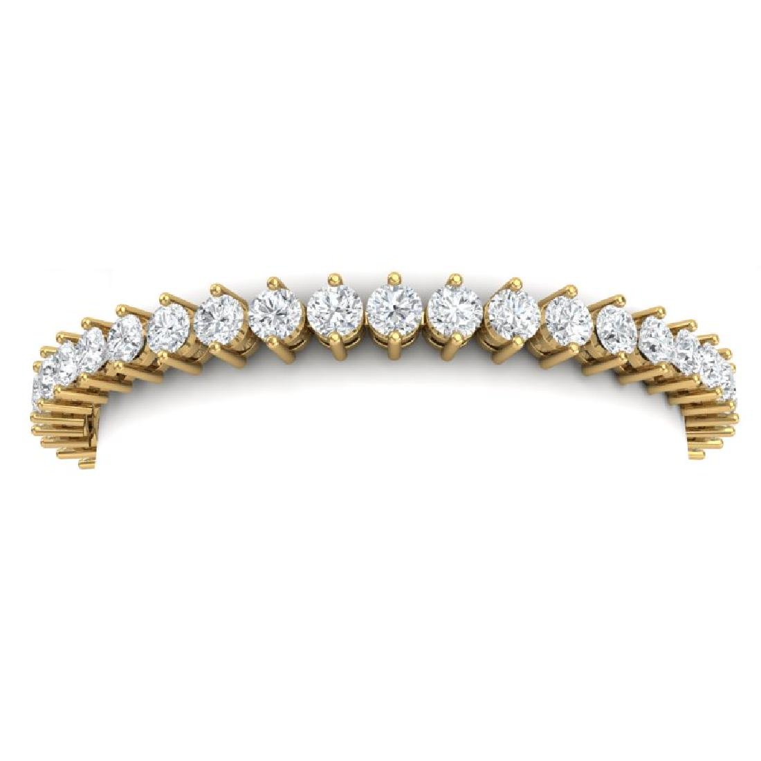 13 CTW Certified VS/SI Diamond Bracelet 18K Yellow Gold - 2