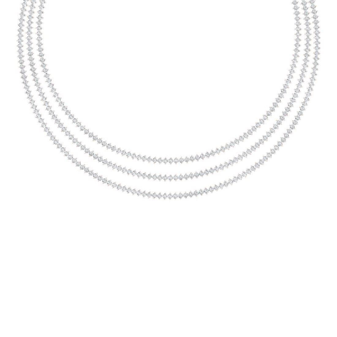 20 CTW Certified SI/I Diamond 2 Prong Necklace 18K Rose
