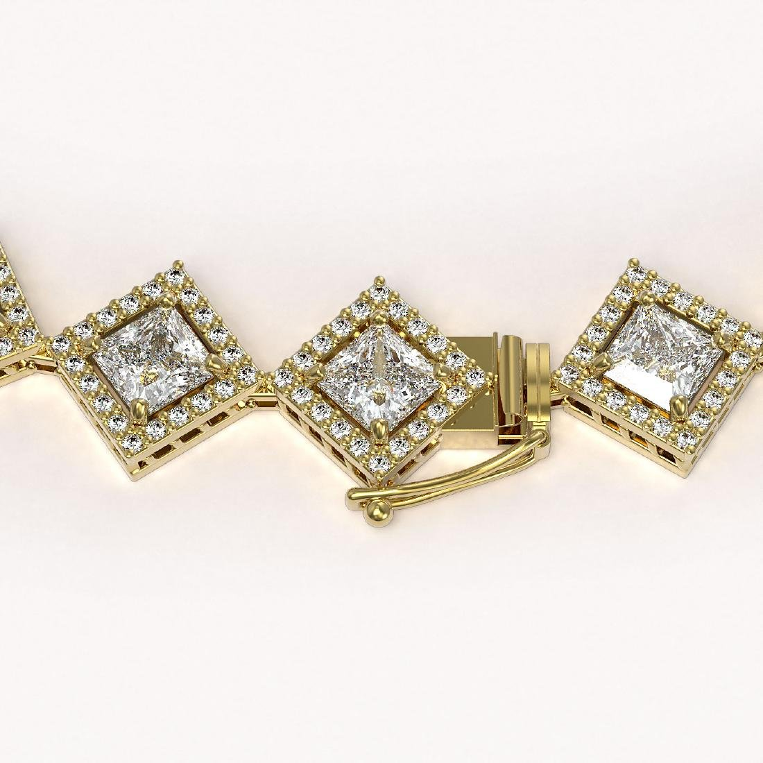 31.92 CTW Princess Cut Diamond Designer Necklace 18K - 3