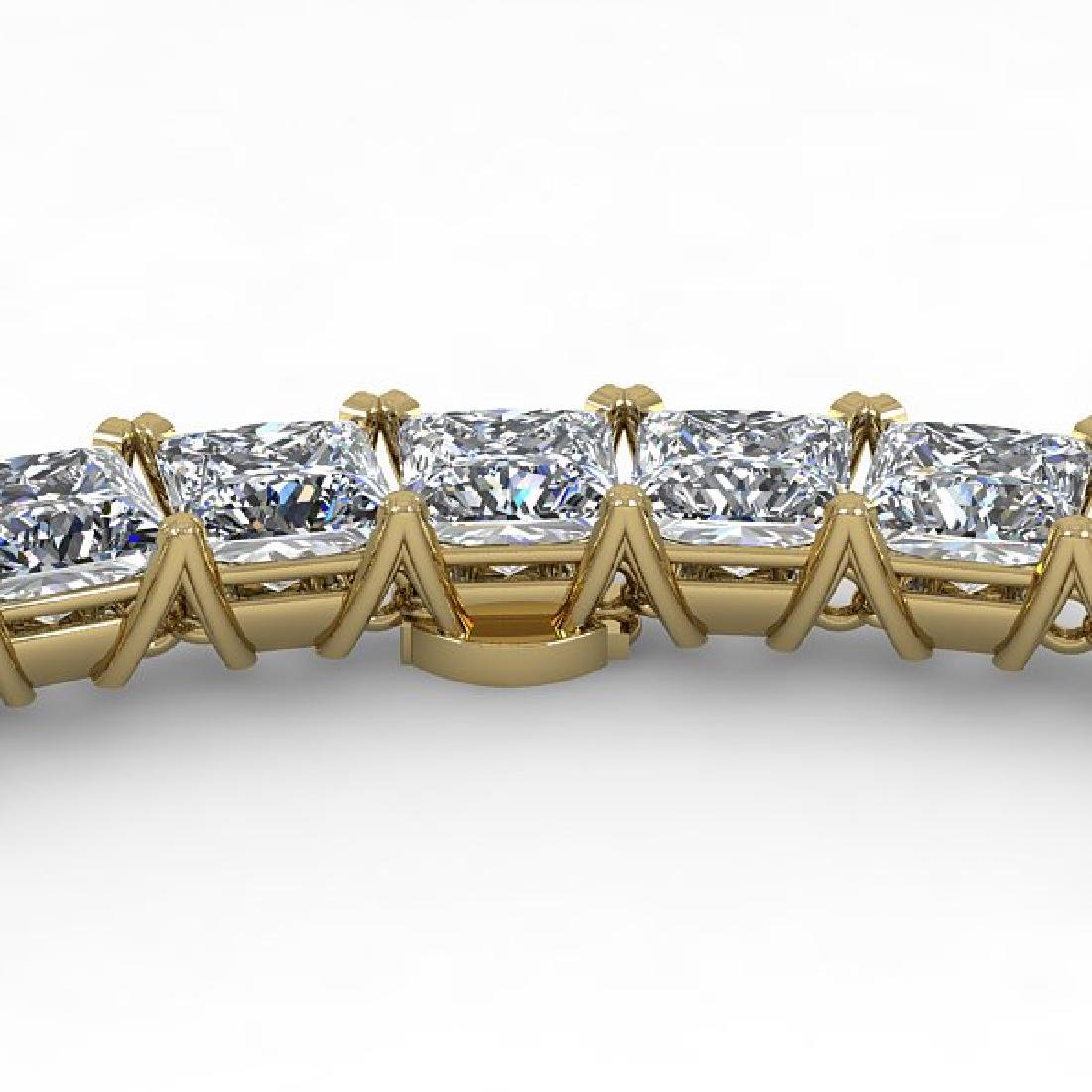 40 CTW Princess Certified SI Diamond Necklace 18K