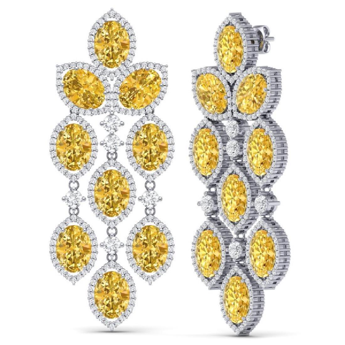 24.54 CTW Royalty Canary Citrine & VS Diamond Earrings - 3