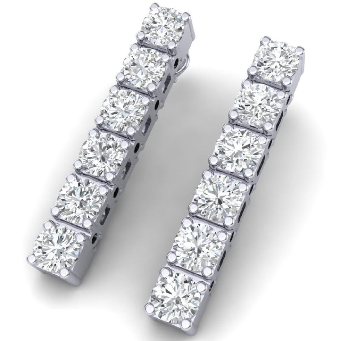 6 CTW Certified SI Diamond Earrings 18K White Gold