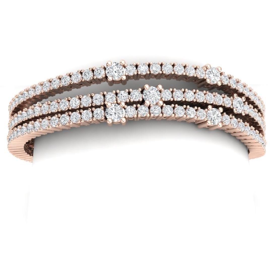 15 CTW Certified VS/SI Diamond Love Bracelet 18K Rose