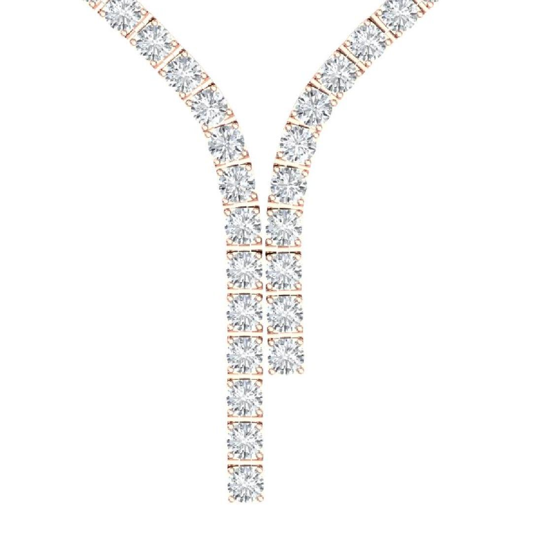 40 CTW Certified SI Diamond Necklace 18K Rose Gold