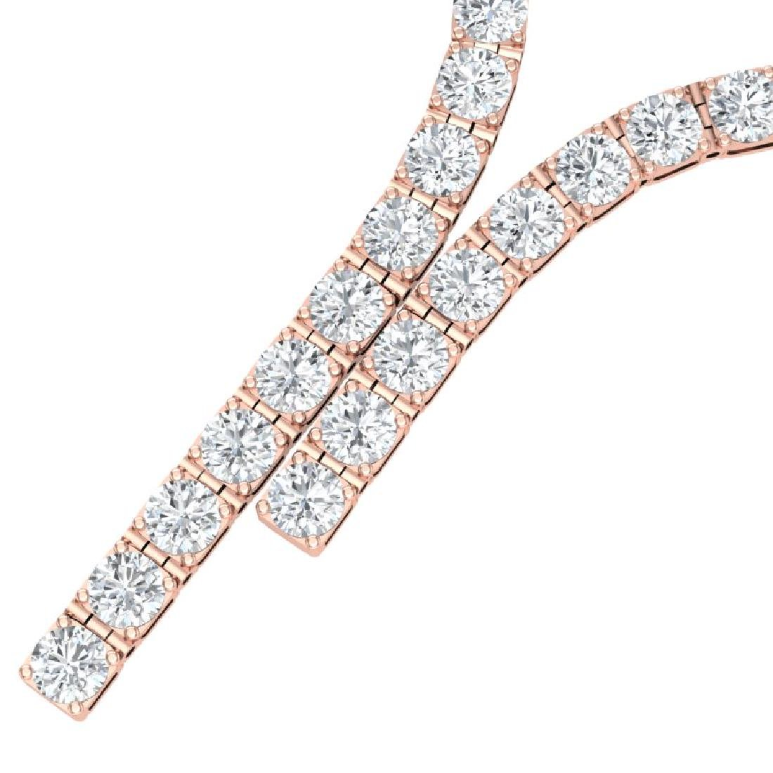 40 CTW Certified SI Diamond Necklace 18K Rose Gold - 2