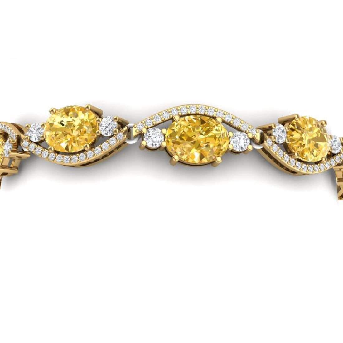 18.3 CTW Royalty Canary Citrine & VS Diamond Bracelet
