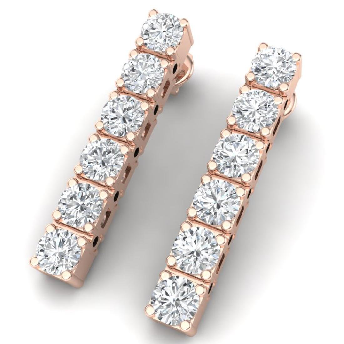 3 CTW Certified VS/SI Diamond Earrings 18K Rose Gold