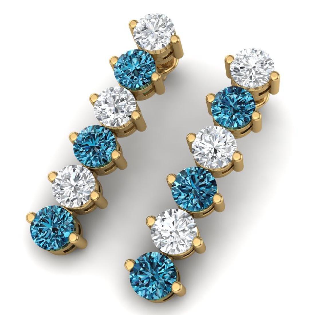 6 CTW Certified SI/I Intense Blue & White Diamond