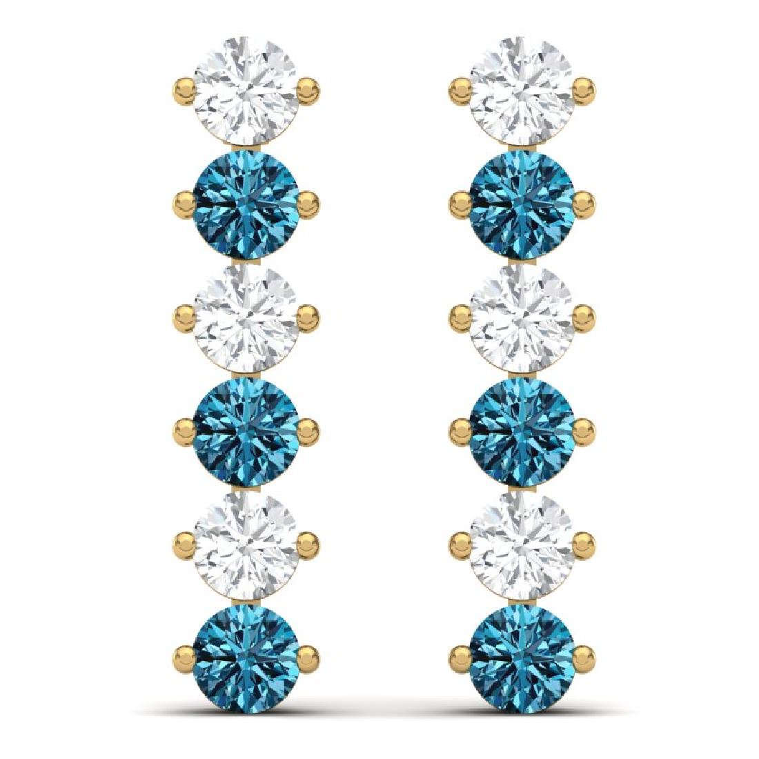 6 CTW Certified SI/I Intense Blue & White Diamond - 3