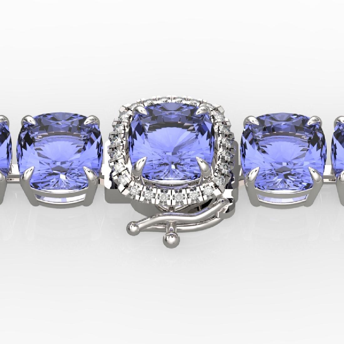 40 CTW Tanzanite & Pave VS/SI Diamond Bracelet 14K