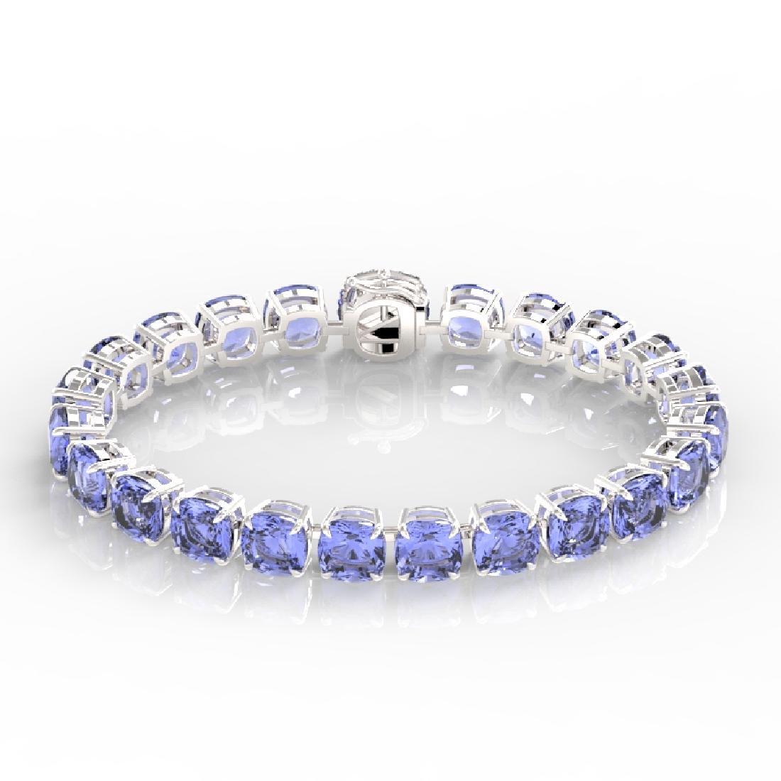 40 CTW Tanzanite & Pave VS/SI Diamond Bracelet 14K - 2