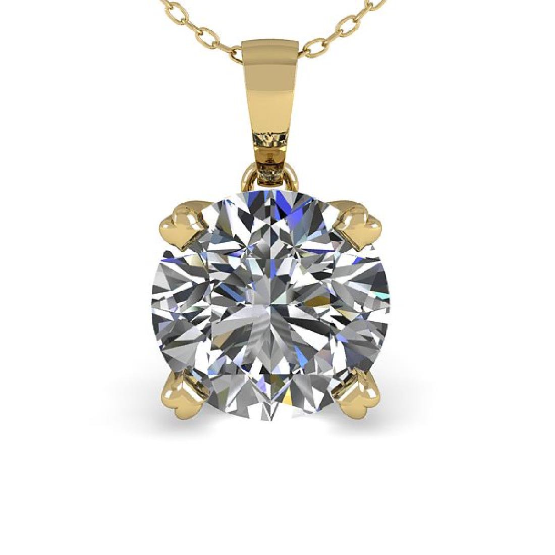 2 CTW Certified VS/SI Diamond Necklace 18K Yellow Gold - 2