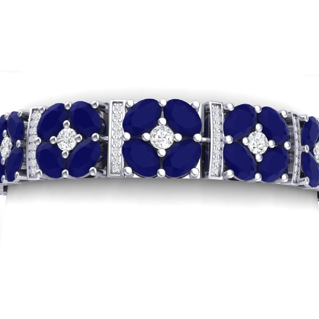 48.04 CTW Royalty Sapphire & VS Diamond Bracelet 18K