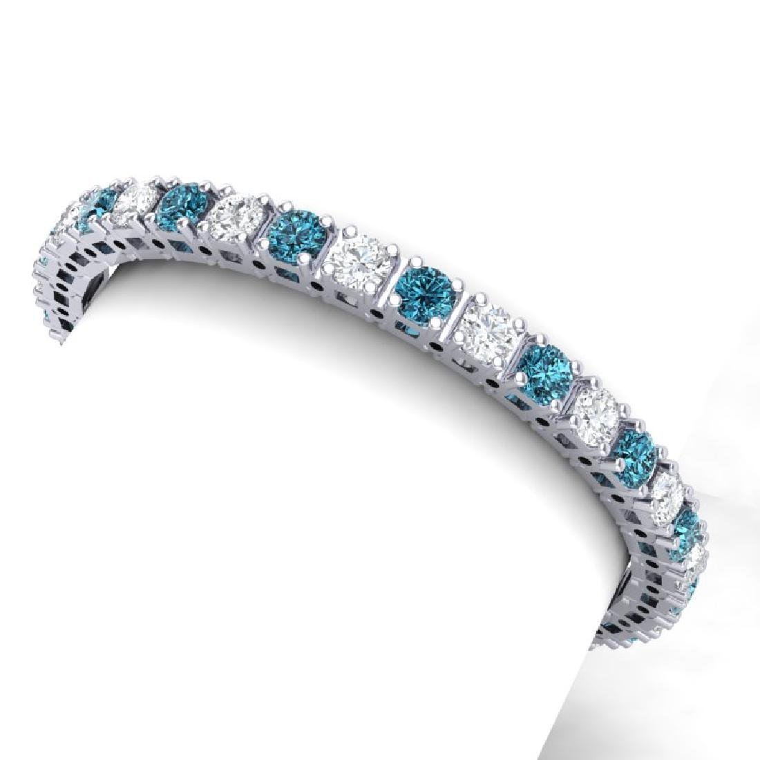 20 CTW SI/I Intense Blue & White Diamond Bracelet 18K