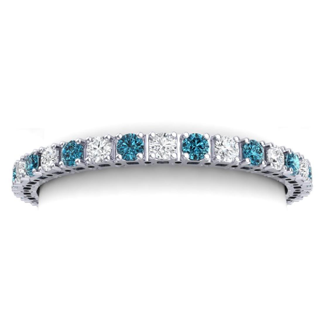 20 CTW SI/I Intense Blue & White Diamond Bracelet 18K - 2