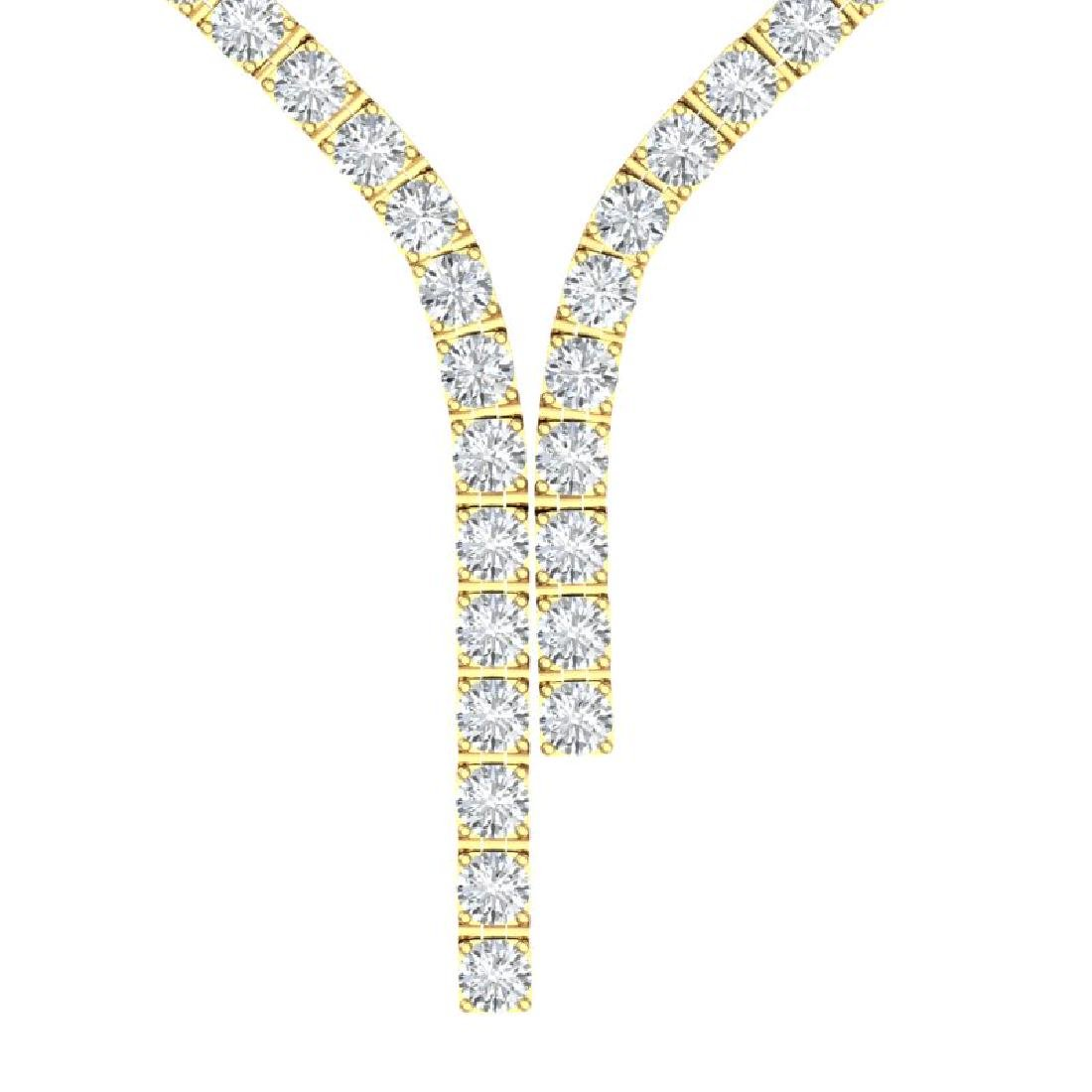 40 CTW Certified SI Diamond Necklace 18K Yellow Gold