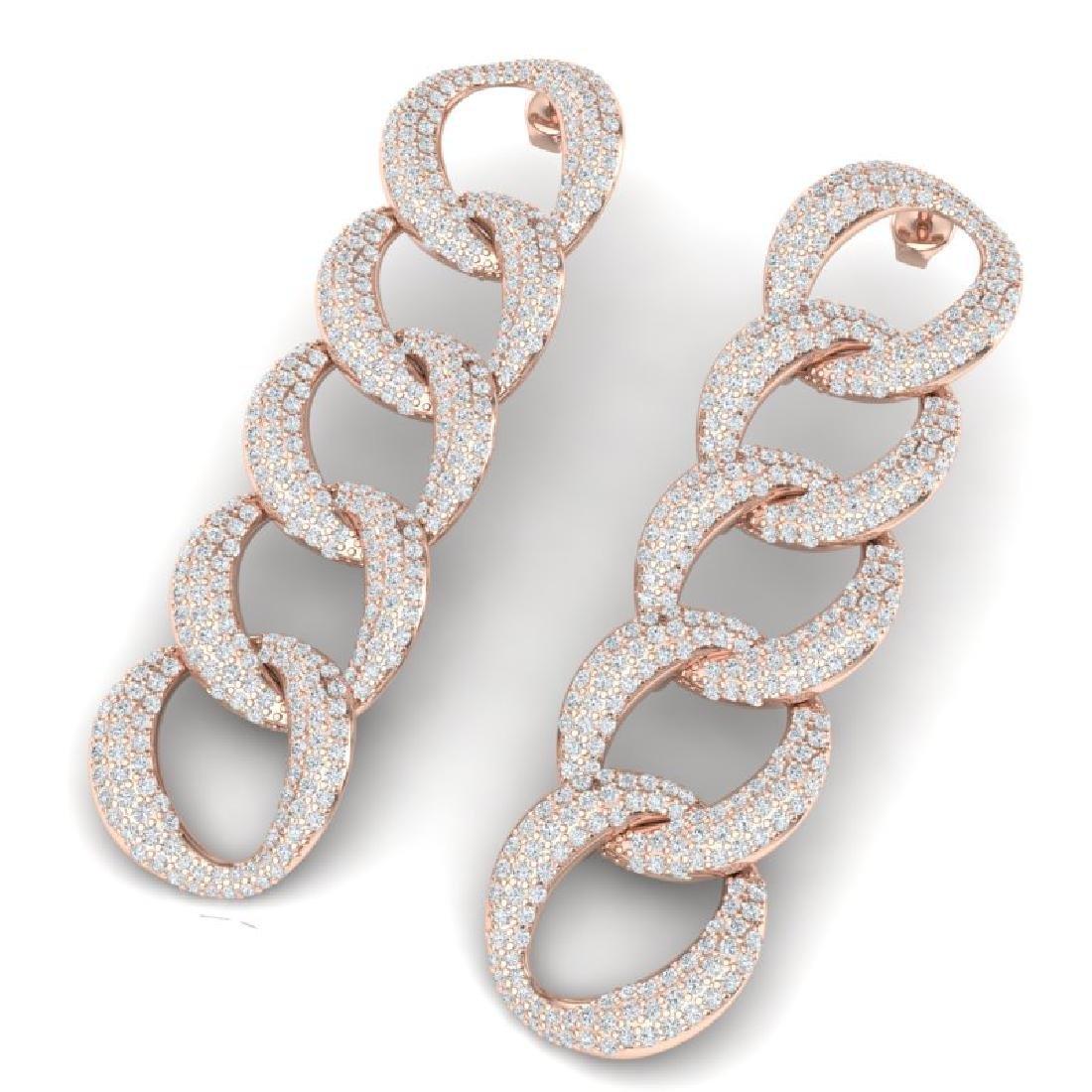 5 CTW Certified VS/SI Diamond Earrings 18K Rose Gold