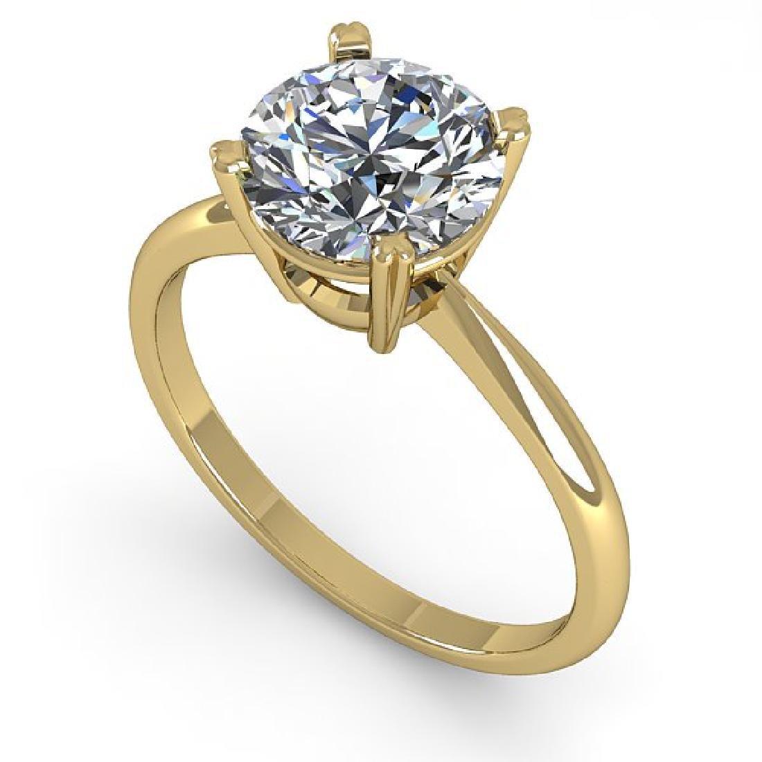 2 CTW Certified VS/SI Diamond Engagement Ring 18K - 2