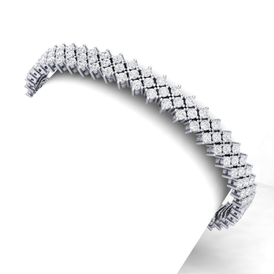 10 CTW Certified SI/I Diamond Bracelet 18K White Gold