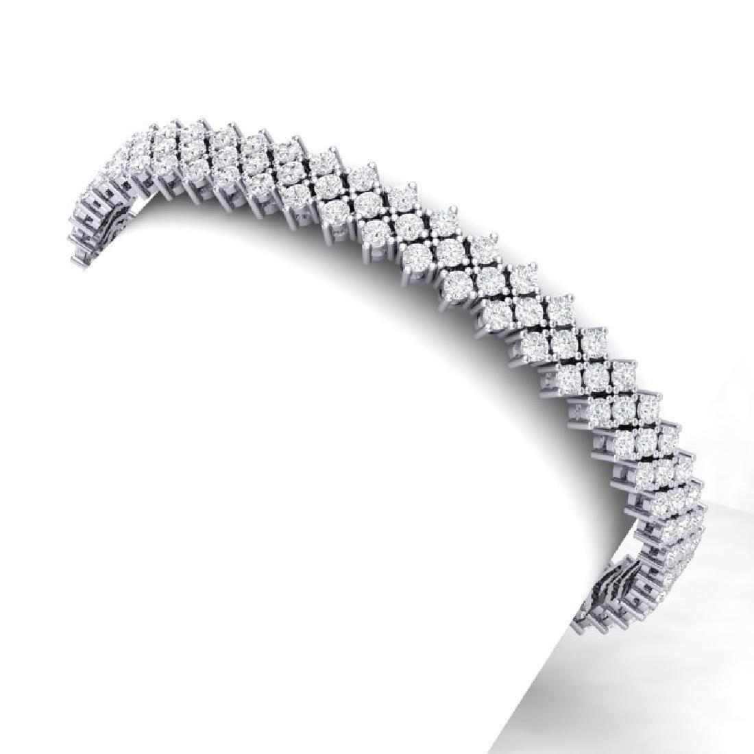 10 CTW Certified SI/I Diamond Bracelet 18K White Gold