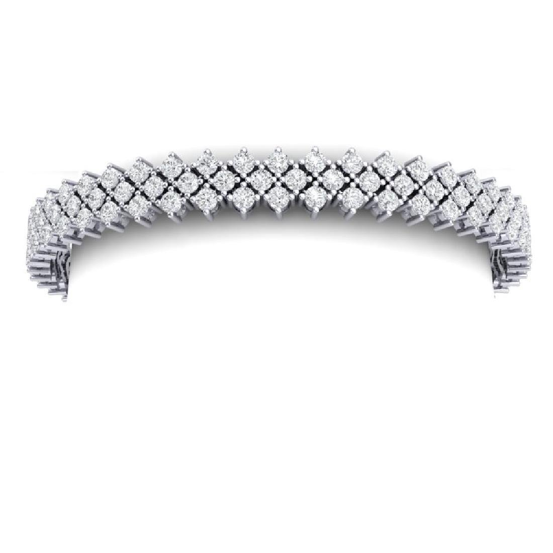 10 CTW Certified SI/I Diamond Bracelet 18K White Gold - 2