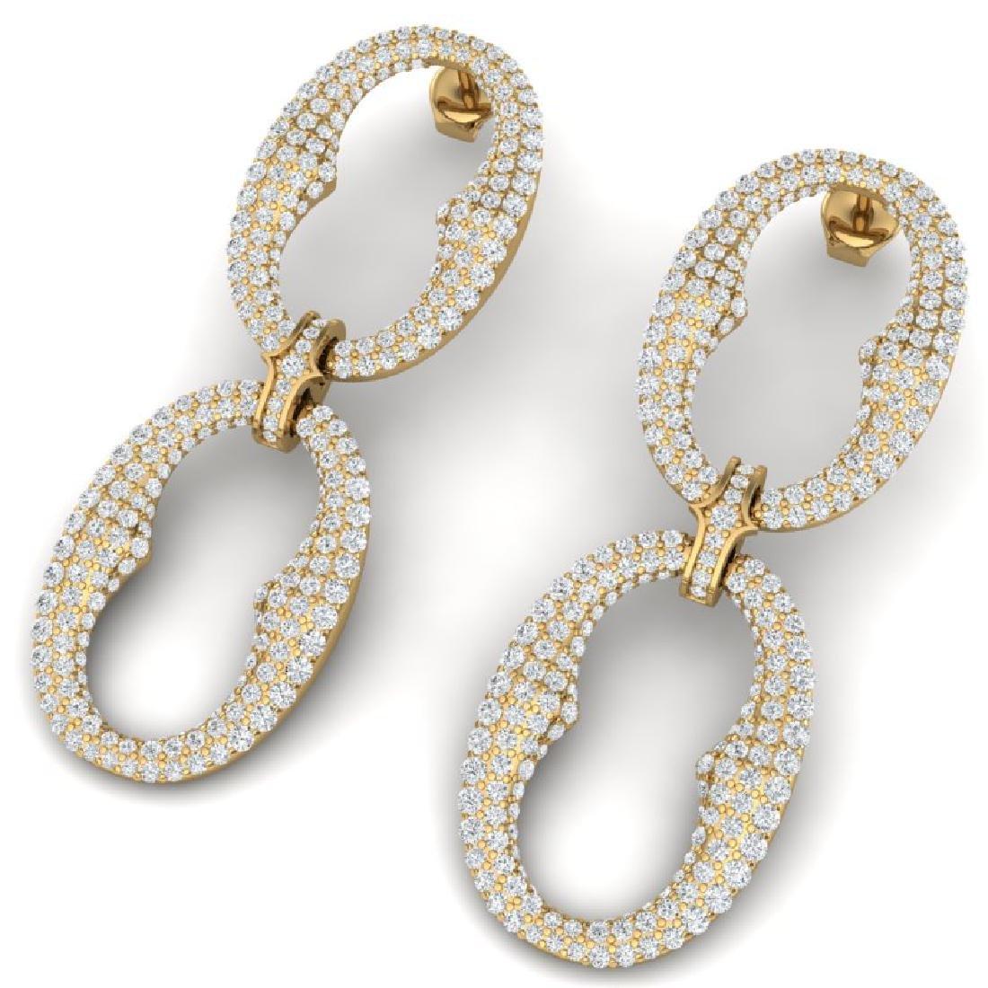 7 CTW Certified VS/SI Diamond Earrings 18K Yellow Gold