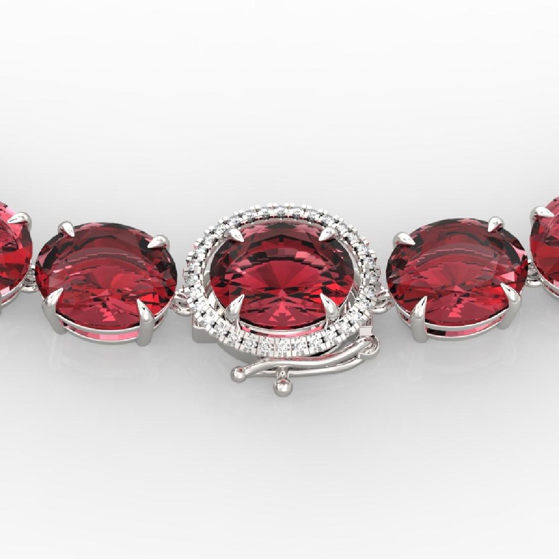 145 CTW Pink Tourmaline & VS/SI Diamond Necklace 14K