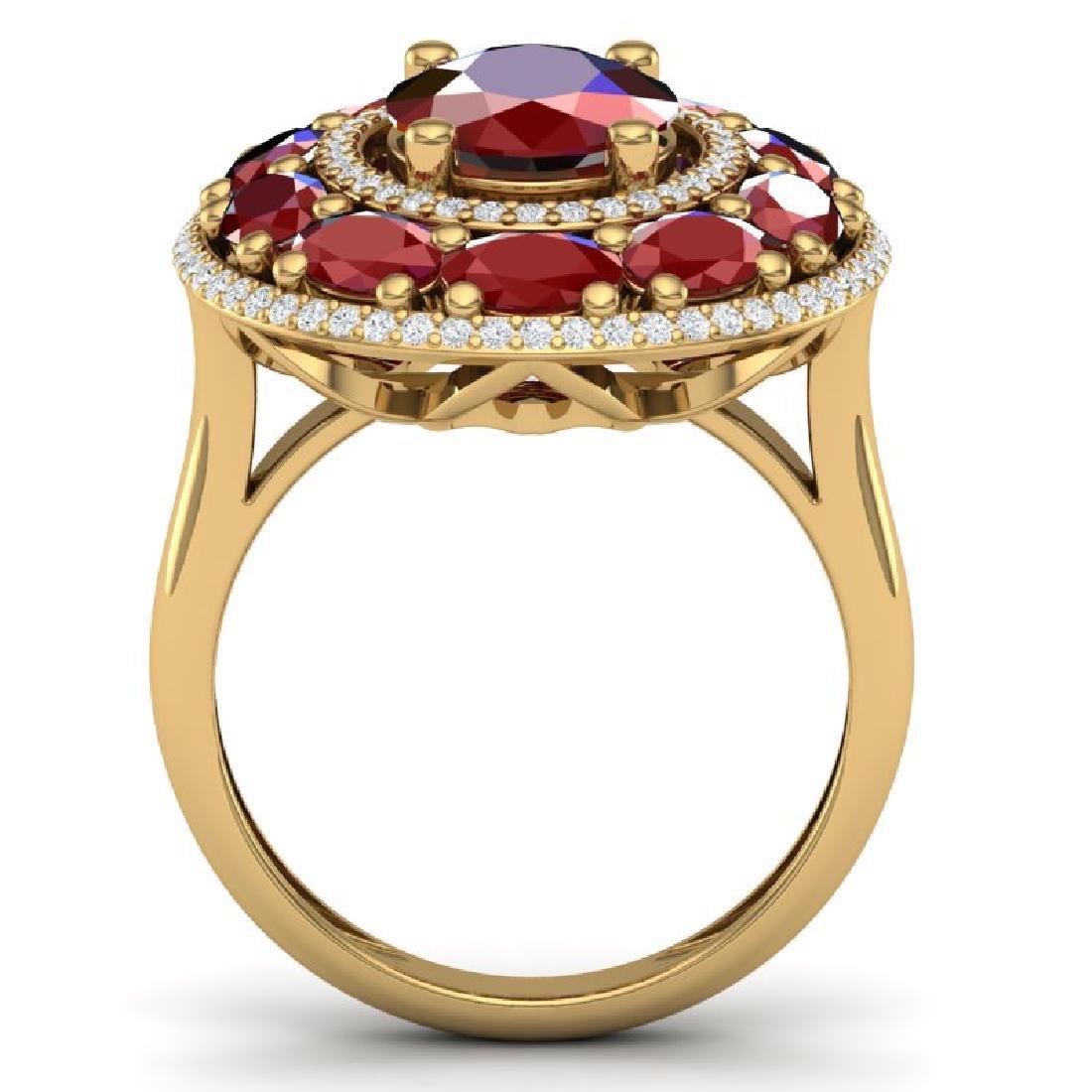 8.05 CTW Royalty Designer Ruby & VS Diamond Ring 18K - 3