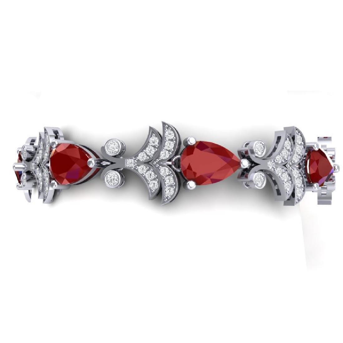 24.8 CTW Royalty Designer Ruby & VS Diamond Bracelet