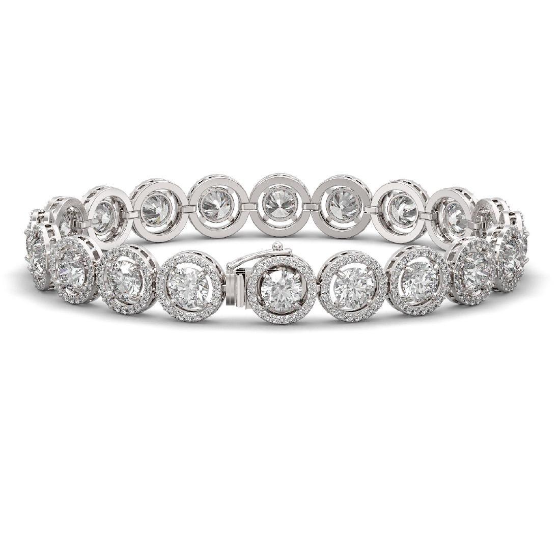 15.36 CTW Diamond Designer Bracelet 18K White Gold - 2