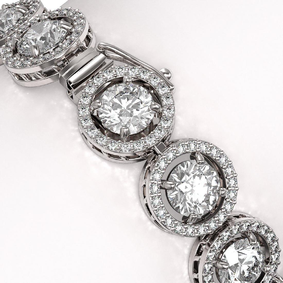 15.36 CTW Diamond Designer Bracelet 18K White Gold - 3