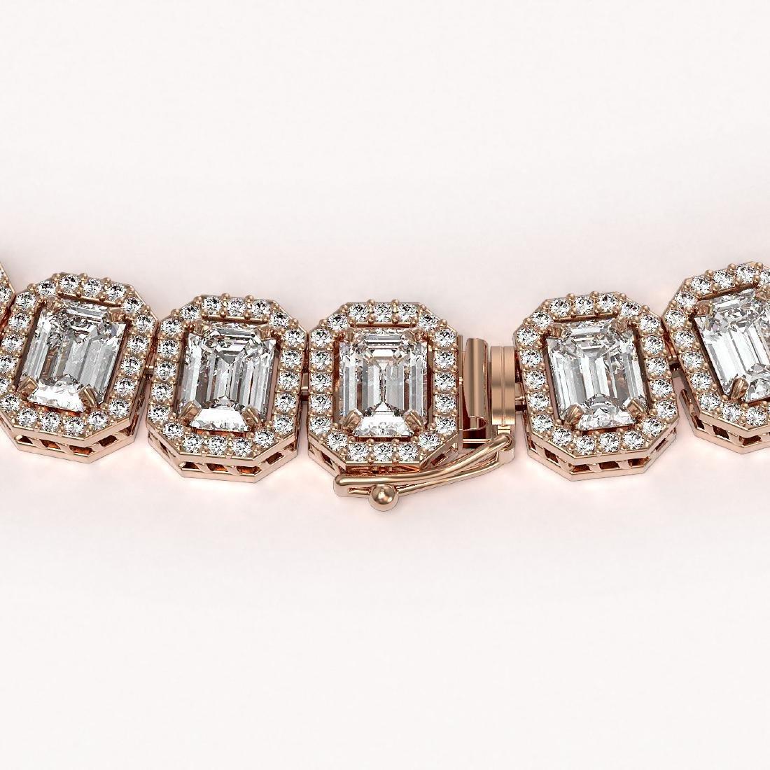 47.12 CTW Emerald Cut Diamond Designer Necklace 18K - 2