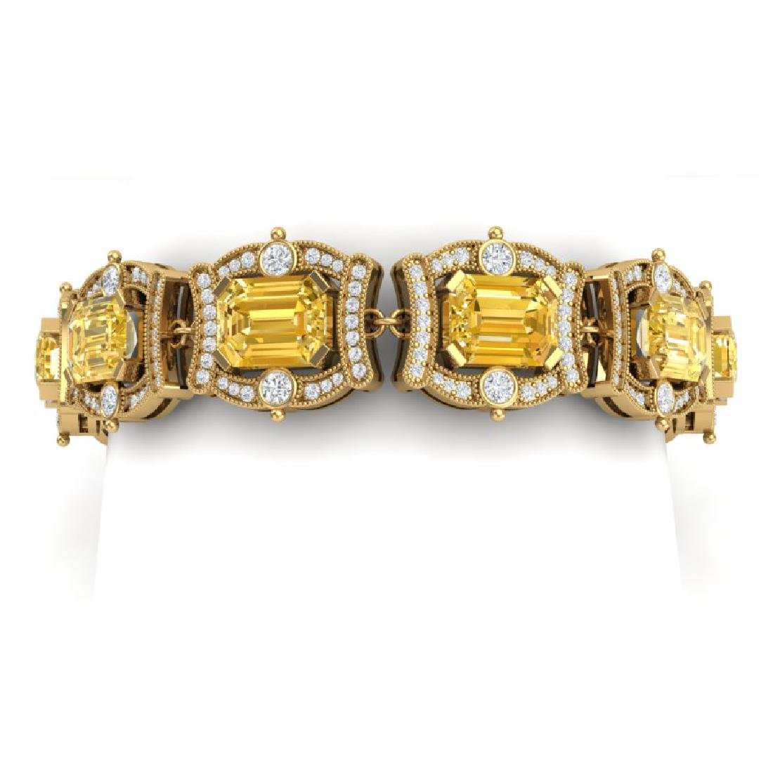 37.15 CTW Royalty Canary Citrine & VS Diamond Bracelet