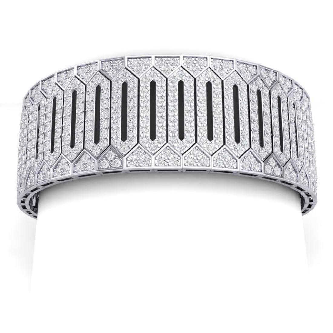 23 CTW Certified VS/SI Diamond 8 Inch Bracelet 18K - 2