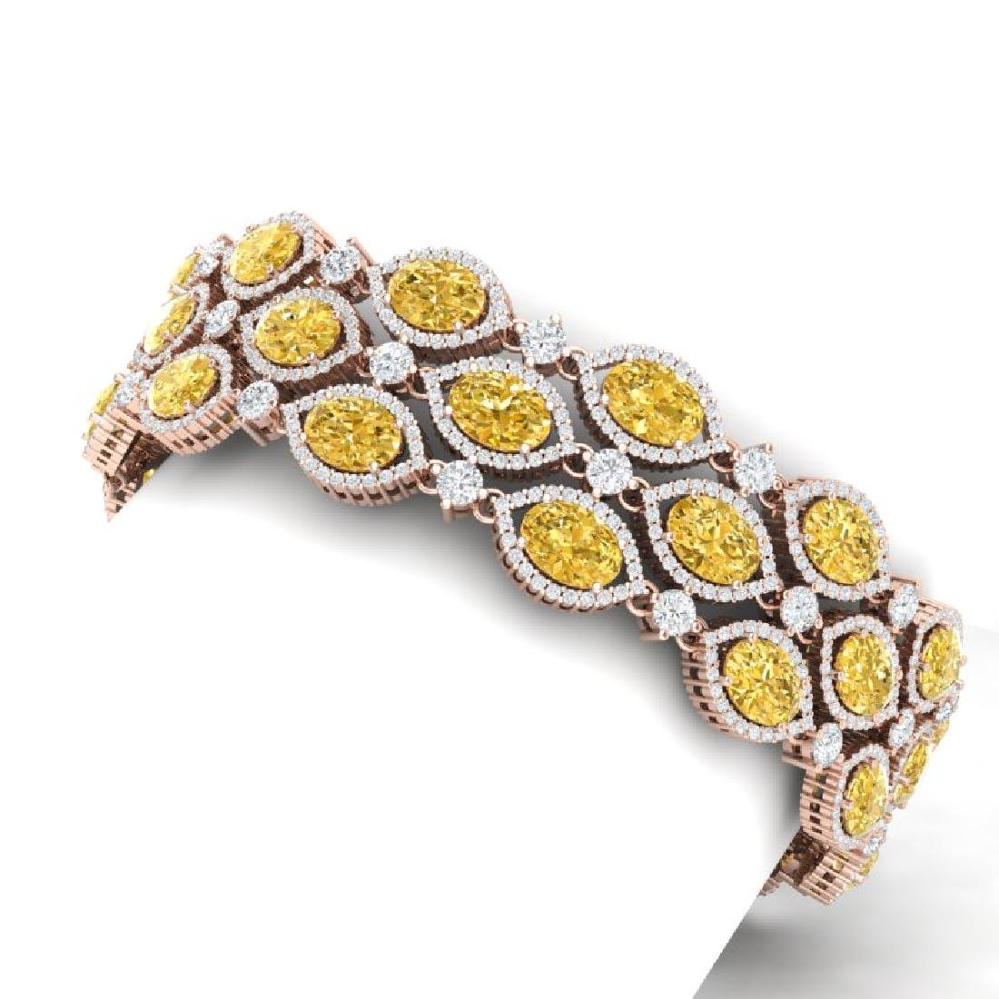 43.84 CTW Royalty Canary Citrine & VS Diamond Bracelet