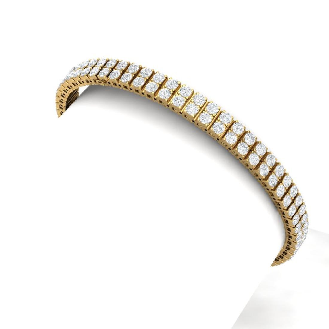 8 CTW Certified SI/I Diamond Bracelet 18K Yellow Gold