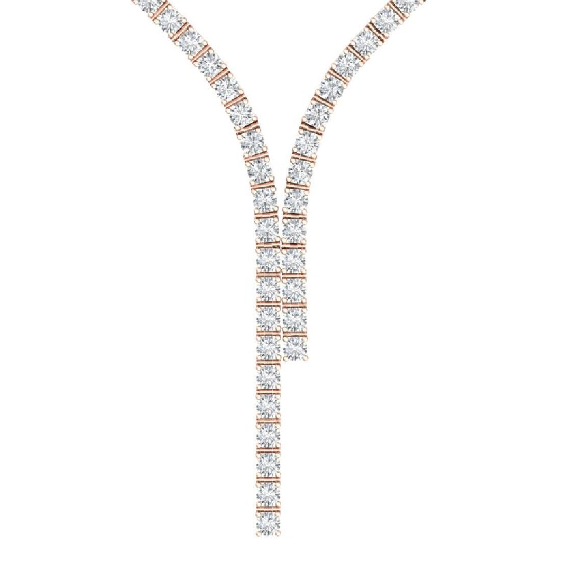15 CTW Certified SI/I Diamond Necklace 18K Rose Gold