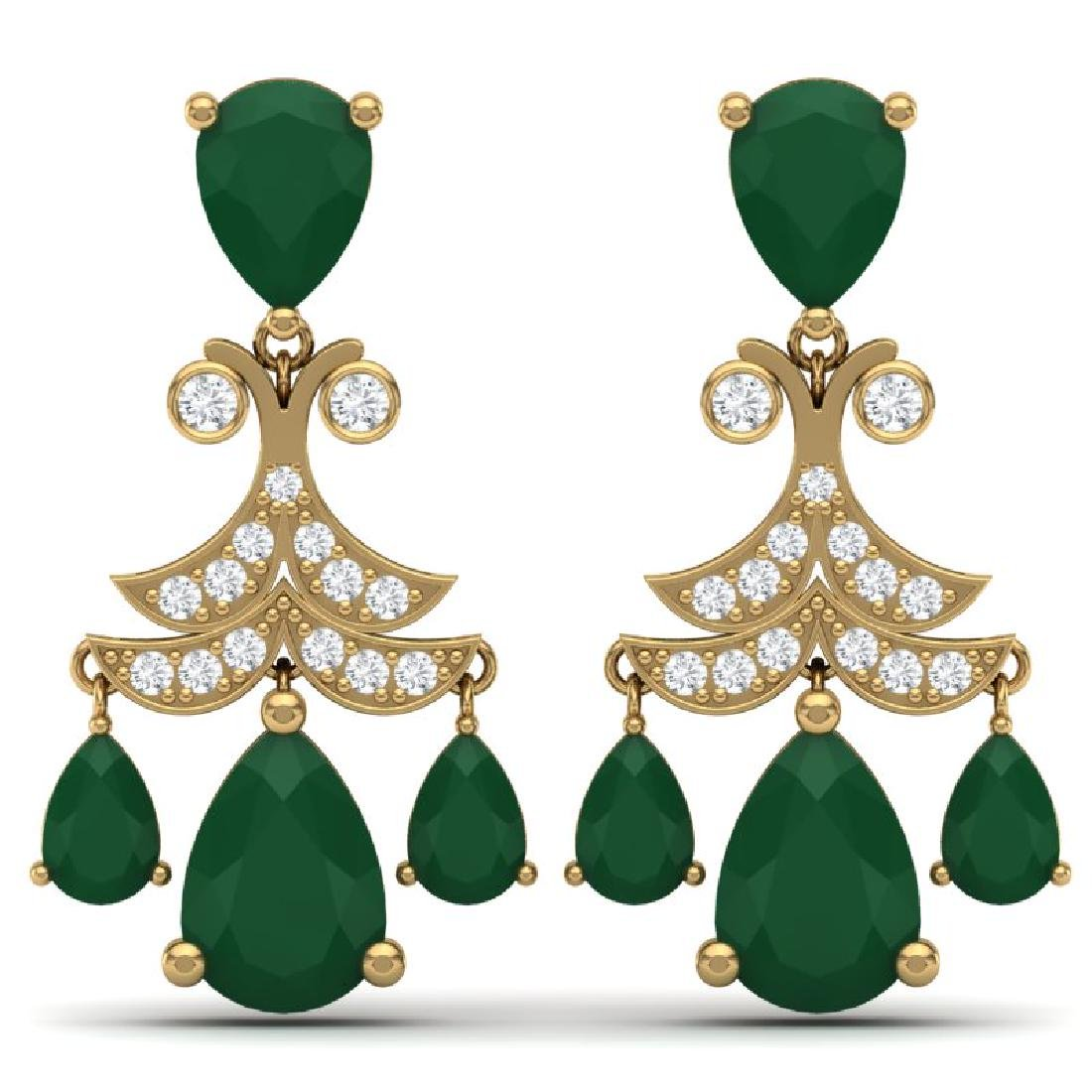 11.97 CTW Royalty Emerald & VS Diamond Earrings 18K