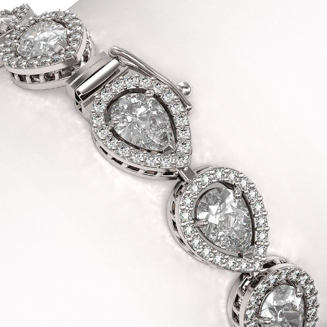 14.28 CTW Pear Diamond Designer Bracelet 18K White Gold - 3
