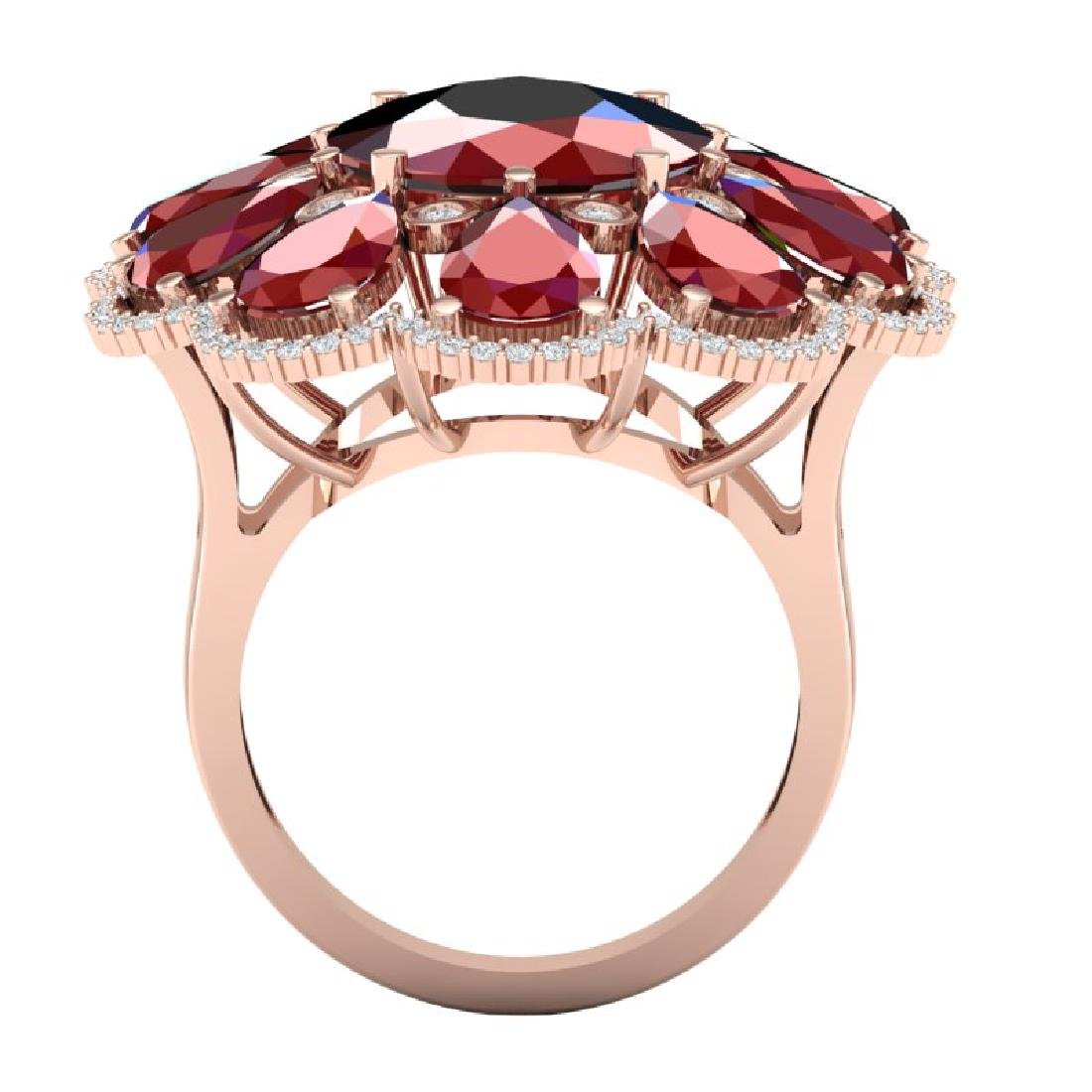 20.63 CTW Royalty Designer Ruby & VS Diamond Ring 18K - 3